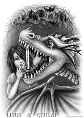 Linus und Oculai in der Höhle aus Band I Geschichte II