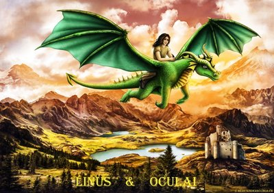 Linus und Oculai im Flug. Aus Band I Geschichte II